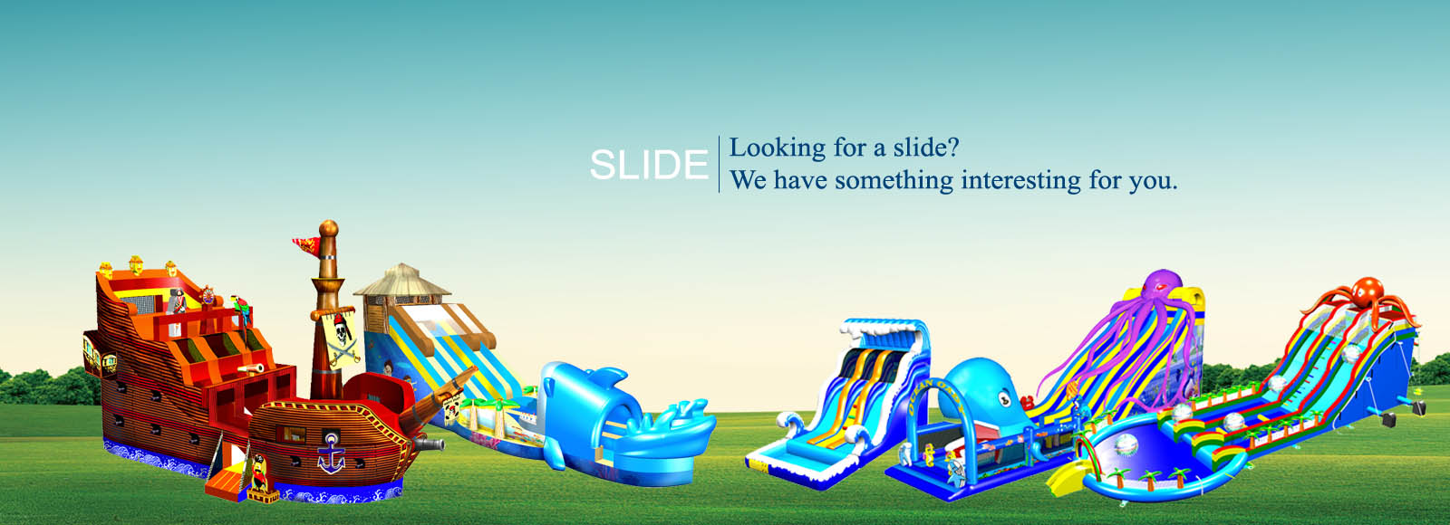 yoyo inflatable slide banner